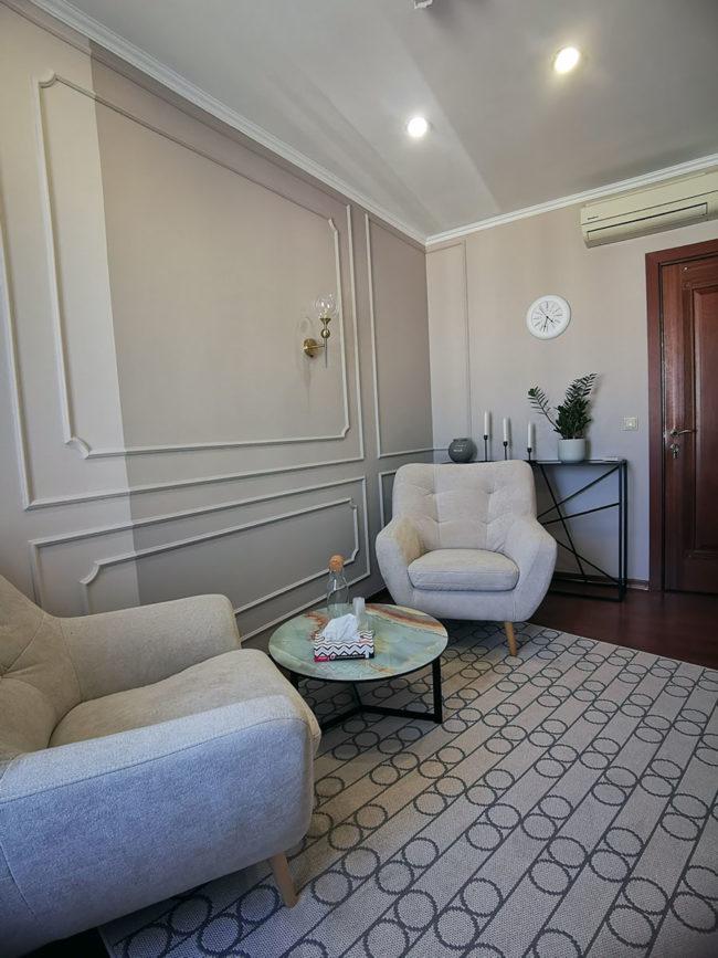 Современный кабинет психолога в аренду